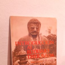 Livros: INTRODUCCION AL BUDISMO THERAVADA. Lote 210198670