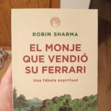 Libros: EL MONJE QUE VENDIÓ SU FERRARI - ROBIN SHARMA. Lote 213740553