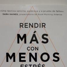 Libros: RENDIR MÁS CON MENOS ESTRÉS DE EMILY FLETCHER. Lote 213828058