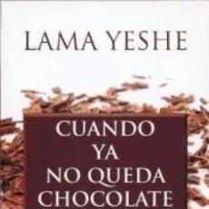 Libros: CUANDO YA NO QUEDA CHOCOLATE. Lote 221077663