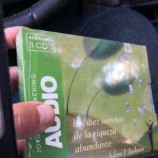 Libros: LOS 10 SECRETOS DE LA RIQUEZA ABUNDANTE ADAM J JACKSON AUDIOLIBRO TRES CDS JORGE ENVÍO CERTIF -5,99. Lote 221560133
