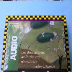 Libros: LOS 10 SECRETOS DE LA RIQUEZA ABUNDANTE ADAM J JACKSON AUDIOLIBRO TRES CDS JORGE ENVÍO CERTIF -5,99. Lote 221561315