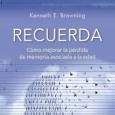 Libros: RECUERDA. Lote 226233890