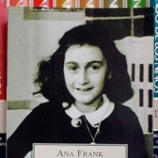 Libros: DIARIO DE ANA FRANK (EDICIÓN COMPLETA), TAMAÑO BOLSILLO TAPA BLANDA + BOLA NAVIDEÑA: TODO IMPECABLE. Lote 235303465