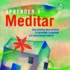 Libros: APRENDER A MEDITAR.ONIRO.. Lote 236499065