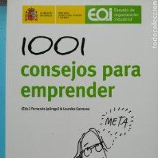 Libros: 1001 CONSEJOS PARA EMPRENDER. Lote 254772580