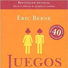 Libros: JUEGOS EN QUE PARTICIPAMOS ERIC BERNE TRADUCTOR DANIEL MENEZO GARCIA. Lote 257898535