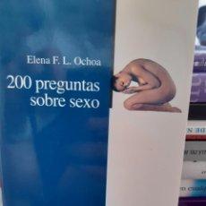 Libros: 200 PREGUNTAS SOBRE SEXO ELENA F L OCHOA. Lote 260792975