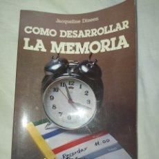Libros: COMO DESARROLLAR LA MEMORIA-- EN EXCELENTE ESTADO DE CONSERVACIÓN--. Lote 268314199