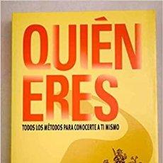 Libros: QUIEN ERES TODOS LOS METODOS PARA CONOCERTE A TI MISMO DIAGRAM GROUP. Lote 272235658