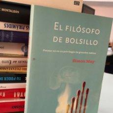 Libros: EL FILÓSOFO DE BOLSILLO - SIMON MAY. Lote 277046483