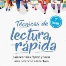 Libros: TÉCNICAS DE LECTURA RÁPIDA. Lote 277441538