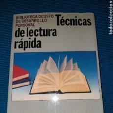 Libros: TÉCNICAS DE LECTURA RÁPIDA. BIBLIOTECA DEUSTO DE DESARROLLO PERSONAL.. Lote 283500543