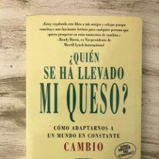 """Libros: LIBRO """"¿QUIÉN SE HA LLEVADO MI QUESO?"""" DE SPENCER JHONSON. Lote 296005473"""