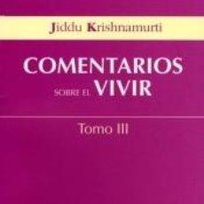 Libros: COMENTARIOS DEL VIVIR. III. Lote 296613993