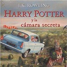 Libros de Aventuras: HARRY POTTER Y LA CÁMARA SECRETA ILUSTRADO - COMPLETAMENTE NUEVO. Lote 84113536