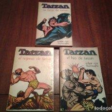 Libros de Aventuras: EL REGRESO DE TARZAN - LAS FIERAS DE TARZAN - EL HIJO DE TARZAN - EDITORIAL NOVARO - AÑO 1972. Lote 96698695