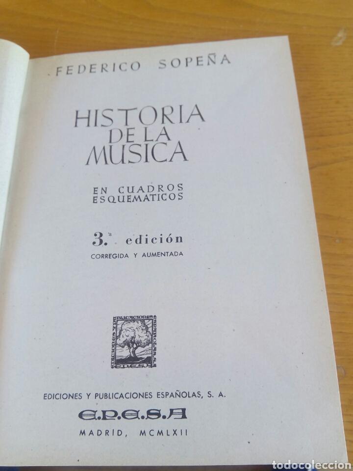 Libros: Historia de la Musica. Federico Sopeña - Foto 3 - 267465664