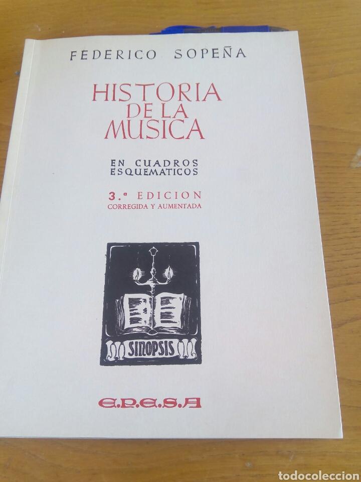 HISTORIA DE LA MUSICA. FEDERICO SOPEÑA (Libros bajo demanda)