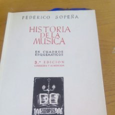 Libros: HISTORIA DE LA MUSICA. FEDERICO SOPEÑA. Lote 267465664