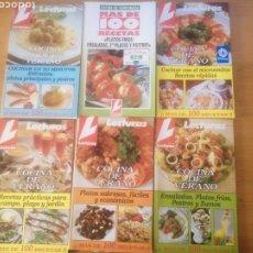 Libros: LOTE DE 6 REVISTAS LECTURAS, RECETAS. Lote 268615834