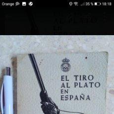 Libros: REGLAMENTO EL TIRO AL PLATO EN ESPAÑA 1966 TAPA BLANDA 105PAGINAS.. Lote 288965118