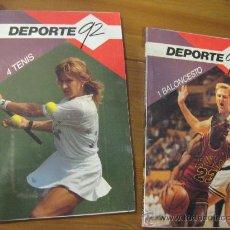 Collectionnisme sportif: 2 LIBROS DEL DEPORTE 92 - 1 BALONCESTO Y 4 TENIS.. Lote 28712646