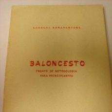 Coleccionismo deportivo - LIBRO BALONCESTO ENSAYO DE METODOLOGIA PARA PRINCIPIANTES INEF BONAVENTURE - 29959525