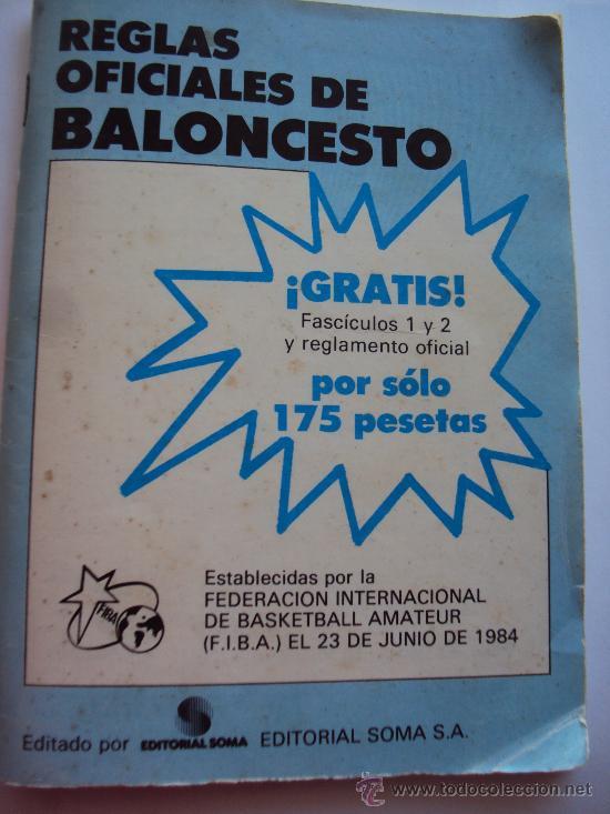 F.I.B.A.- REGLAS OFICIALES DE BALONCESTO 23-6-1984- (Coleccionismo Deportivo - Libros de Baloncesto)