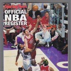 Collectionnisme sportif: OFFICIAL NBA REGISTER 1998-1999 – THE SPORTING NEWS 448 PGS. 23X15 CMS. TEXTOS EN INGLÉS.BASKET BAL. Lote 35599058