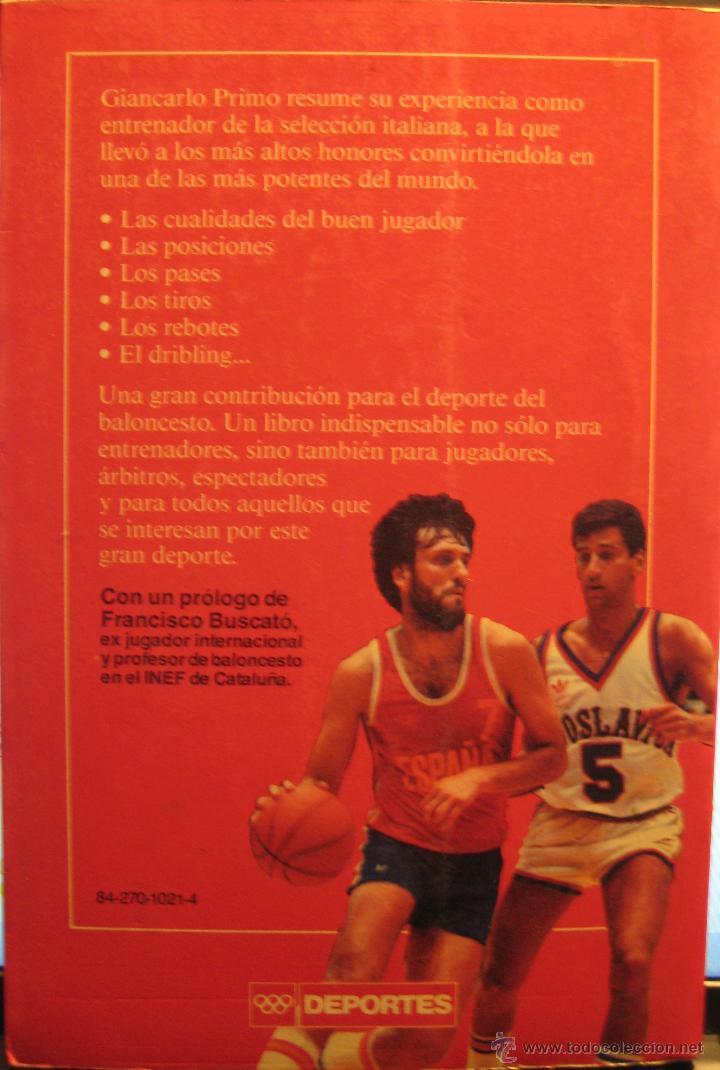 Coleccionismo deportivo: BALONCESTO - EL ATAQUE - GIANCARLO PRIMO - EDICIONES MARTINEZ ROCA - 1986 - CORBALAN, EPI, EWING - Foto 2 - 41623001