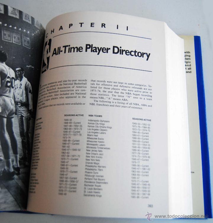 Coleccionismo deportivo: THE OFFICIAL NBA BASKETBALL ENCYCLOPEDIA ENCICLOPEDIA BALONCESTO OFICIAL DE NBA AÑO 1989 766 PAGINAS - Foto 3 - 42239312