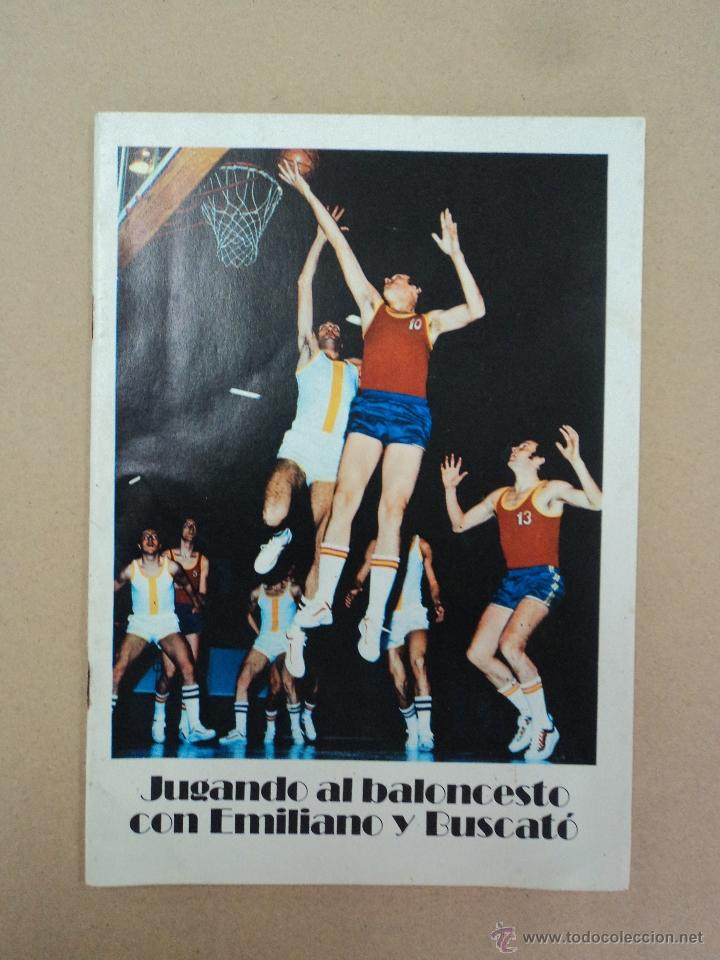 JUGANDO AL BALONCESTO CON EMILIANO Y BUSCATÓ (Coleccionismo Deportivo - Libros de Baloncesto)