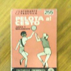 Coleccionismo deportivo: MINI LIBRO PELOTA A CESTO - JUEGO Y REGLAMENTO - EL AYUDANTE PRÁCTICO - ARGENTINA - 1972. Lote 44018084