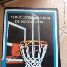 Coleccionismo deportivo: RARO. CLINIC INTERNACIONAL MONTECATINI. ALESANDRO GAMBA. 1983. Lote 45021086