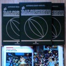 Coleccionismo deportivo: COLECCION MI BALONCESTO ANTONIO DIAZ-MIGUEL 4 TOMOS COMPLETA FERNANDO MARTIN SABONIS PETROVIC. Lote 200190848