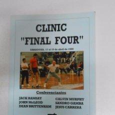 Coleccionismo deportivo: CLINIC Nº 1. FINAL FOUR. ZARAGOZA 1990. JACK RAMSAY. CALVIN MURPHY. JESUS CARRERA... TDK254. Lote 51186394