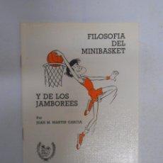 Coleccionismo deportivo: FILOSOFIA DEL MINIBASKET Y DE LOS JAMBOREES. JUAN M. MARTIN GARCIA. FEB 1985. TDK30. Lote 51186411