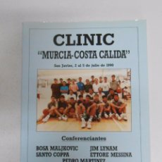 Coleccionismo deportivo: CLINIC Nº 5 MURCIA COSTA CALIDA. SAN JAVIER 1990 BOSA MALJKOVIC. ETTORE MESSINA. JIM LYNAM... TDK254. Lote 51186907