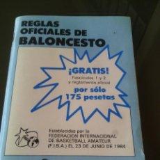 Coleccionismo deportivo: REGLAS OFICIALES DE BALONCESTO.AÑO 1984. Lote 52668553