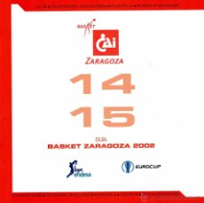 Coleccionismo deportivo: GUÍA CAI ZARAGOZA - TEMPORADA 2014/15. Lote 53302355