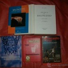 Coleccionismo deportivo: LOTE DE LIBROS DE BALONCESTO. Lote 54351527