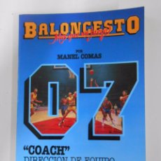 Coleccionismo deportivo: BALONCESTO. MAS QUE UN JUEGO. MANEL COMAS. Nº 7. COACH. DIRECCION DE EQUIPO. TDK265. Lote 54533420