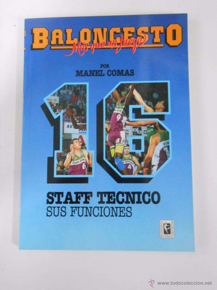 BALONCESTO. MAS QUE UN JUEGO. MANEL COMAS. Nº 16. STAFF TECNICO. SUS FUNCIONES. TDK265 (Coleccionismo Deportivo - Libros de Baloncesto)