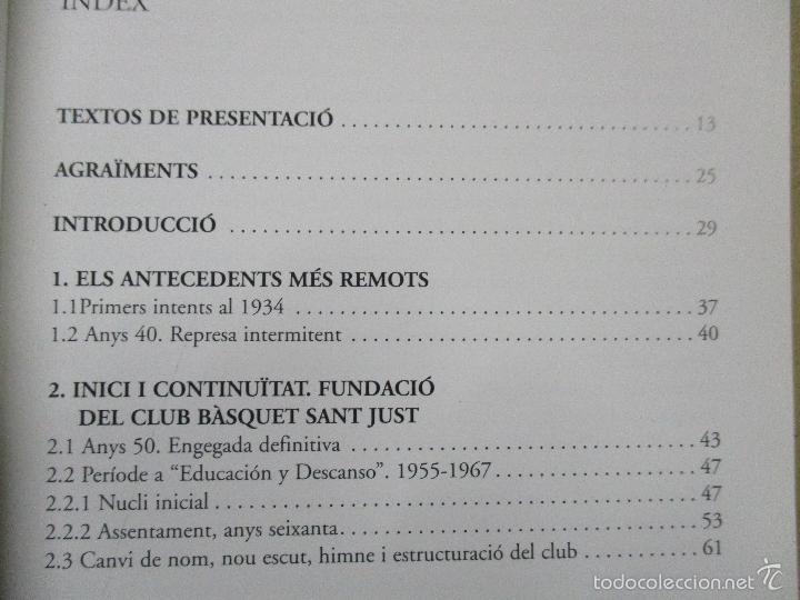 Coleccionismo deportivo: Club Basquet Sant Just 50é Aniversari - 1956 - 2006 - Foto 7 - 55357106