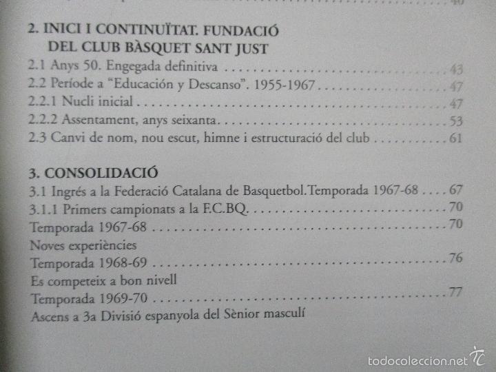 Coleccionismo deportivo: Club Basquet Sant Just 50é Aniversari - 1956 - 2006 - Foto 8 - 55357106
