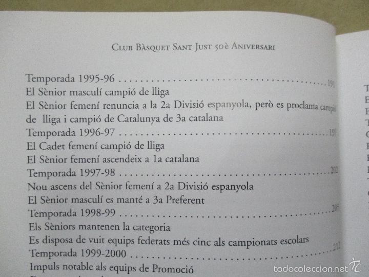 Coleccionismo deportivo: Club Basquet Sant Just 50é Aniversari - 1956 - 2006 - Foto 16 - 55357106
