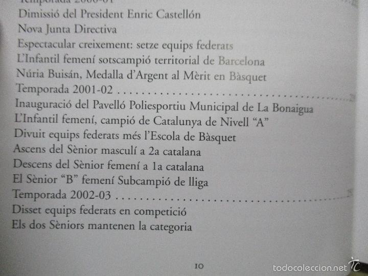Coleccionismo deportivo: Club Basquet Sant Just 50é Aniversari - 1956 - 2006 - Foto 18 - 55357106