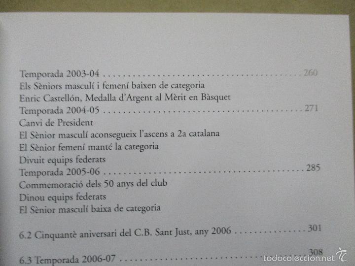 Coleccionismo deportivo: Club Basquet Sant Just 50é Aniversari - 1956 - 2006 - Foto 19 - 55357106
