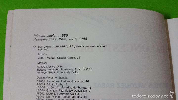 Coleccionismo deportivo: Baloncesto Básico por Santos Vázquez Rabaz edita Alhambra año 1988 auténtica rareza - Foto 2 - 56746402